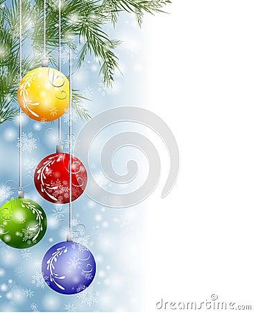Free Xmas Snow Ornaments Border Stock Photo - 7049700