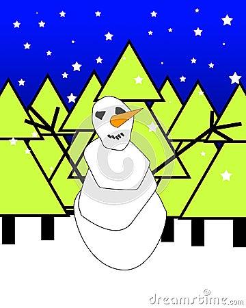 Xmas Snowman 2