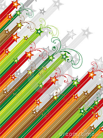 Xmas swirls shooting stars