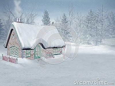 Xmas time,  santa s cottage