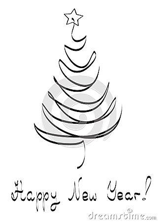 Xmas tree,  card