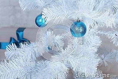 Xmas tree decoration, decorated