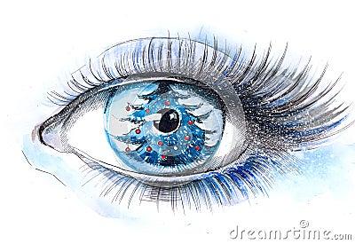 Xmas tree eye