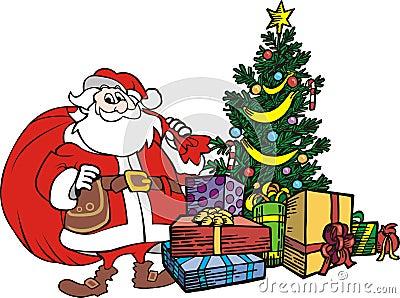 Xmas tree santa claus