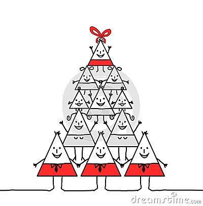 Xmas triangle family