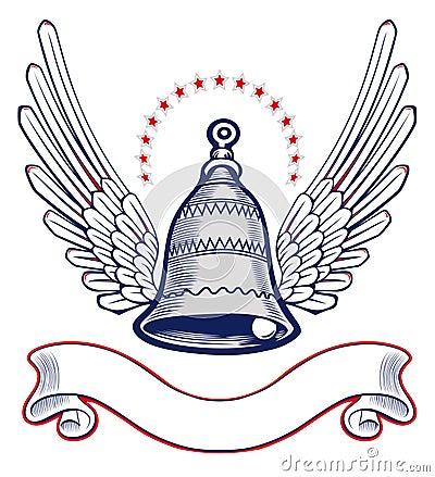 Xmass bell wing emblem