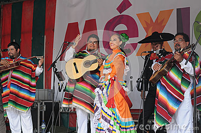 Xochicalli Mexican folkloric group Editorial Image