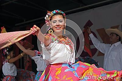 Xochicalli Mexican folkloric ballet Editorial Stock Photo