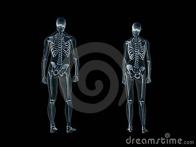 Xray, x-ray of the human body, man and woman.