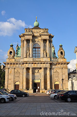 XVII century church of Saint Joseph in Warsaw Editorial Photography