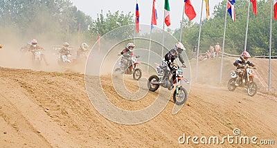 XX International motocross in Vladimir Editorial Image