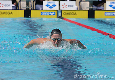 XXIIe MEETING INTERNATIONAL DE NATATION ARENA Editorial Photo