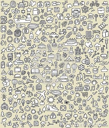 XXL Doodle Icons Set No.2