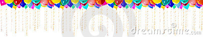 XXL high resolution colourful balloons isolated