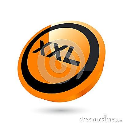 XXL size button