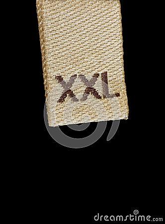 XXL size clothing label macro