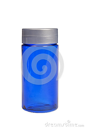XXXL aislado botella azul