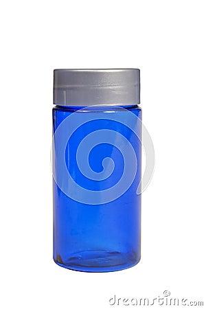 XXXL isolato bottiglia blu