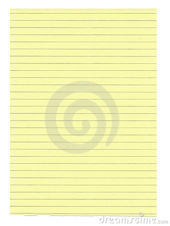 XXXL size yellow lined paper