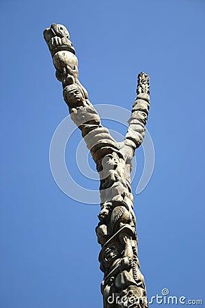 Y sculptured pole
