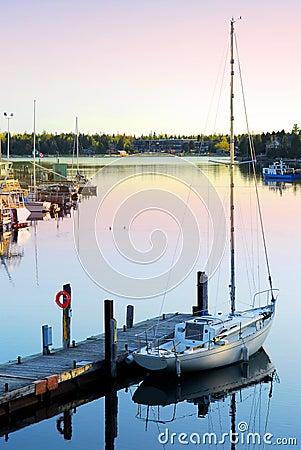 Free Yacht At Sunrise Royalty Free Stock Photo - 4119475