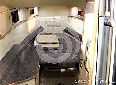 Yacht cabin interior
