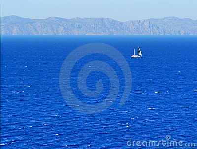 Yacht by a coast
