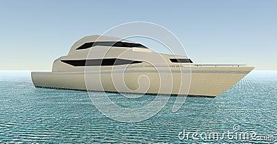 Yacht. 3D illustration Cartoon Illustration