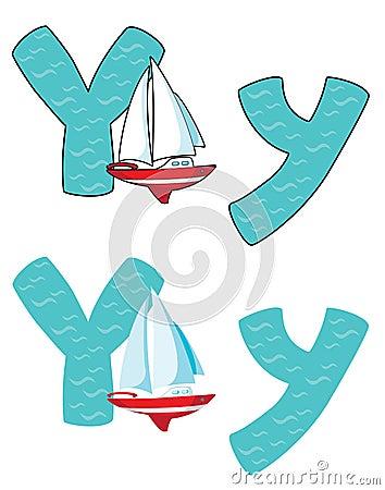 Yacht des Zeichens Y