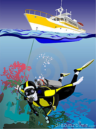 Yacht diving