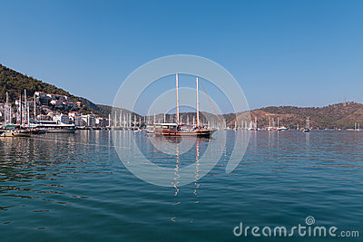 Yacht harbor, Fethiye, Turkey Editorial Stock Photo