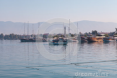 Yacht harbor, Fethiye, Turkey Editorial Image