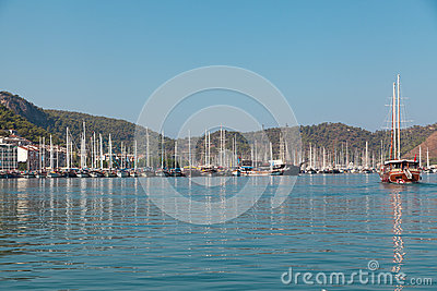 Yacht harbor, Fethiye, Turkey Editorial Photography