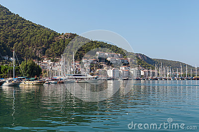 Yacht harbor, Fethiye, Turkey Editorial Photography