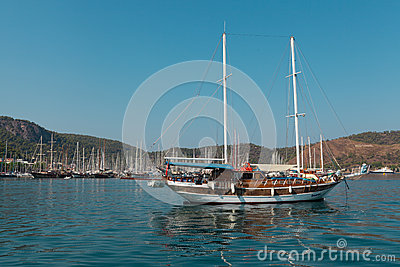 Yacht harbor, Fethiye, Turkey Editorial Stock Image
