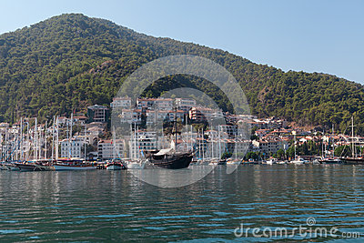 Yacht harbor, Fethiye, Turkey Editorial Photo