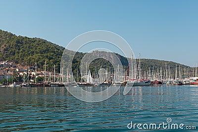 Yacht harbor, Fethiye, Turkey Editorial Image