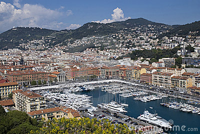Yacht harbor of Nice, France