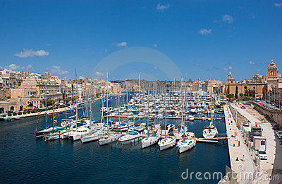 Yacht harbour in Birgu