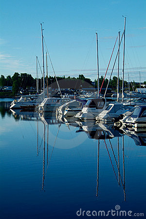 Yacht harbour in the morning