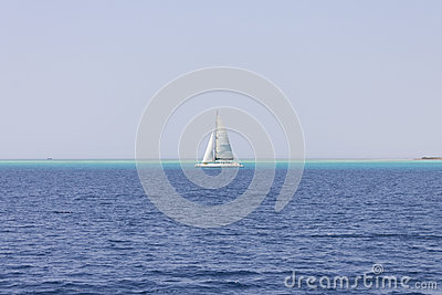Yacht on the horizon