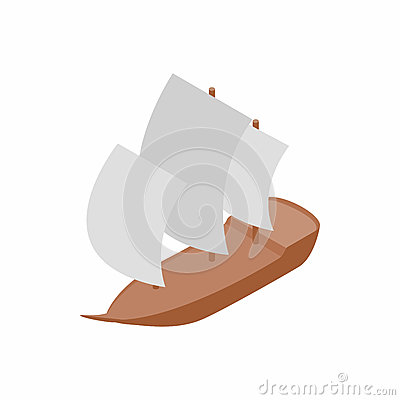 Yacht icon, isometric 3d style Vector Illustration