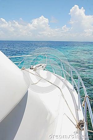 Yacht and island