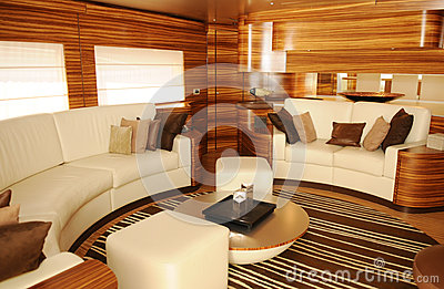 Luxury Yacht Living Room