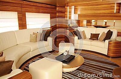 Luxury Yacht Interior - Cozy Living Room