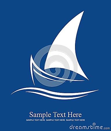 Modern Yacht Illustration  Yacht Logo