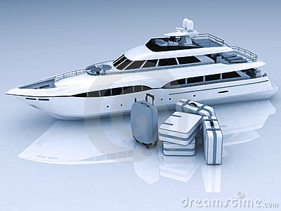 Yacht and luggage
