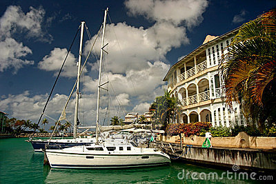 Yacht at marina