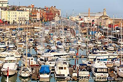 Yacht marina in UK port Editorial Photography