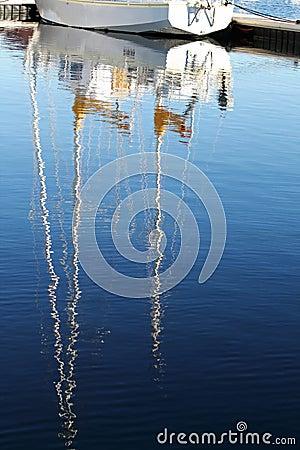 Yacht Mast reflection